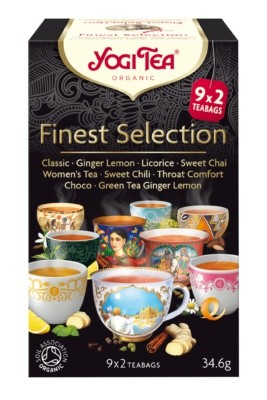 YOGI TEA, Finest selection 18 poser, økologisk