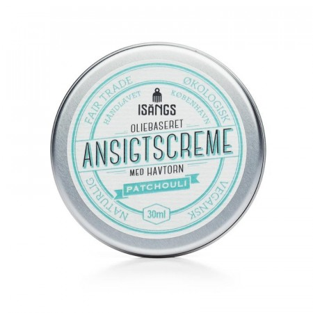 Isangs ANSIKTSKREM m/ duft av PATCHOULI, 30 ml (best før 01/2021)