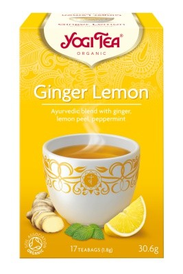 YOGI TEA, Ginger and Lemon, 17 poser, økologisk