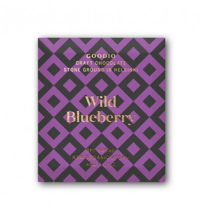 Goodio sjokolade, Wild Blueberry (48g)