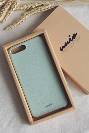iPhone 7/8 PLUS mobildeksel, hvetehalm (Unio Cases, 3 farger, MINIMAL)