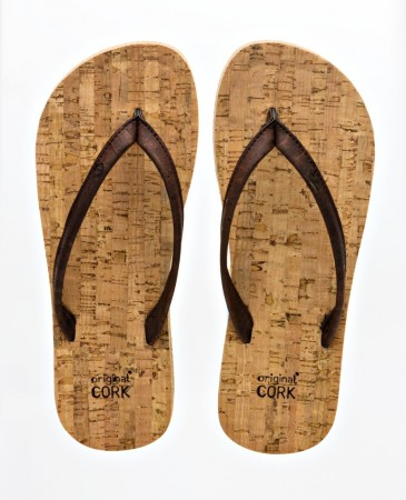 Original Cork Flip-Flops, OLD OAK (brun), vegansk str.  36, 41-45