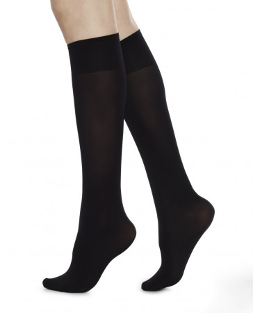 Swedish Stockings - INGRID Knee High knestrømper, Black 60 denier, midlertidig utsolgt