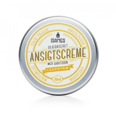 Isangs ANSIKTSKREM m/ duft av SEDERTRE, 30 ml (best før 01/2021)
