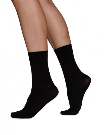 Swedish Stockings - INGRID Ankle Sock, Black 60 denier