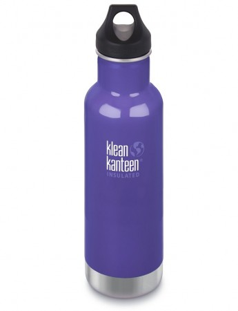 Klean Kanteen INSULATED CLASSIC drikkeflaske 592 ml, BLOOMING IRIS (LILLA) - midlertidig utsolgt