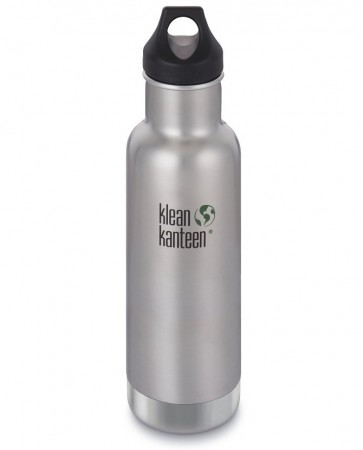 Klean Kanteen INSULATED CLASSIC drikkeflaske 592 ml, BRUSHED STEEL