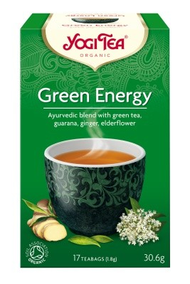 YOGI TEA, Green Energy with Kombucha, 17 poser