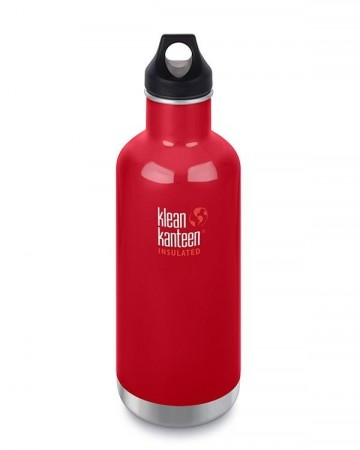 Klean Kanteen INSULATED CLASSIC drikkeflaske 946 ml, MINERAL RED