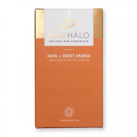 Raw Halo, Dark Sweet Orange 75%, sjokolade
