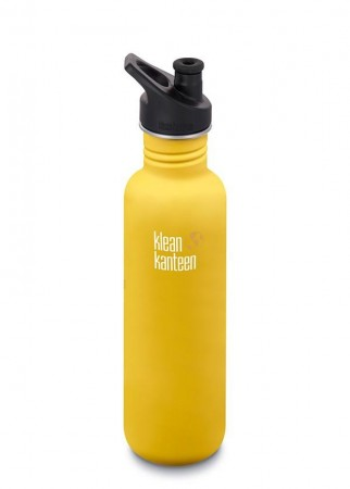 Klean Kanteen CLASSIC m/ sportskork 800 ml, LEMON CURRY