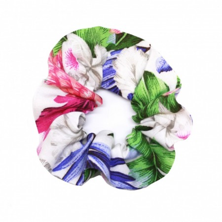 Scrunchie, White Jungle