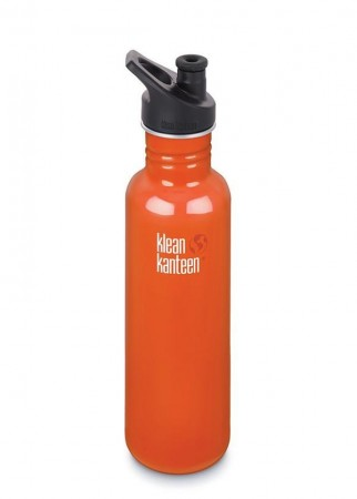 Klean Kanteen CLASSIC m/ sportskork 800 ml, FLAME ORANGE