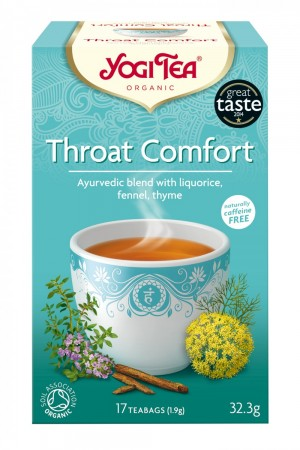 YOGI TEA, Throat Comfort, 17 poser, økologisk