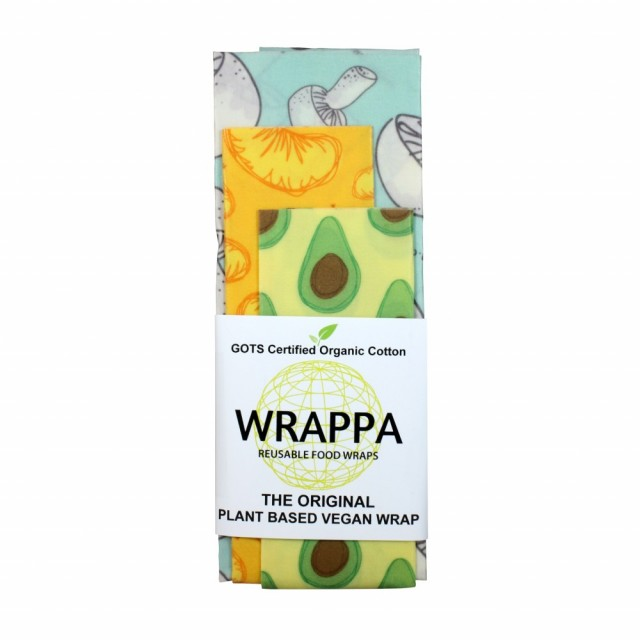 "Vegansk vokset matpapir med motivet ""Foodies"", 3-pk. Foto: Wrappa Reusable Food Wraps"