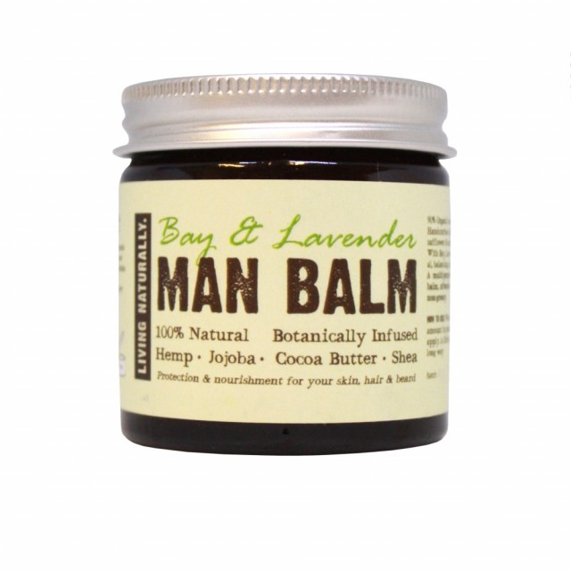 "Man Balm ""Bay & Lavendel"", økologisk universalprodukt for menn, 60 ml. Foto: Living Naturally"